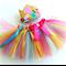 Fairy Garden Flower Crown &Tutu Baby Girls 1st Birthday Outfit