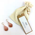 Handcrafted copper leaf polymer clay earrings rose gold plated earring  hooks
