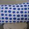 Blue Spot on White Cushion Cover