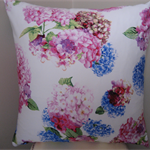 Beautiful Hydrangea Pattern Square Cushion Cover