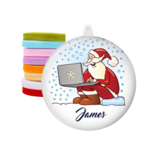 Personalised Christmas decorations - Computer Santa