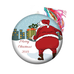 Personalised Christmas decorations - Santa's on his way