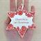 Personalised ornament. Custom made decoration. Personalised gift. Ceramic star.
