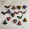 15 Felted Christmas Decorations 5 Trees 5 Birds 5 Hearts
