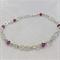 Infinity link bracelet amethyst crystal
