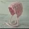 Vintage Dusty Pink Hand Crocheted Newborn Baby Bonnet Photo Prop