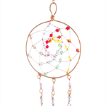Chakra crystal sun catcher/dream catcher