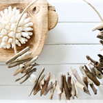 Driftwood Wreath Tribal Necklace Hamptons Beach Bohemian Rustic Boho Home Decor
