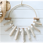 Bleached Driftwood Wreath Tribal Necklace Hamptons Beach Bohemian Rustic Boho