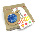 Apple for the Teacher Brooch - Powder Blue Blossom