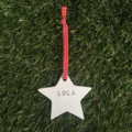 CLAY STAR TAGS DECORATIONS TEACHER GIFTS CHRISTMAS PERSONALISED MERRY CHRISTMAS