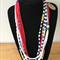 Stripy yarn necklace