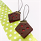 Polka dot leather earrings