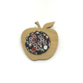 Apple for the Teacher Brooch - Pink and Black Blossom