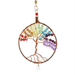 Chakra tree of life, suncatcher