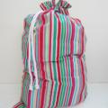 Christmas Santa Sack / Stocking - Bright Stripe
