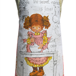 Metro Retro Holly Hobbie / Sarah Kay GIRL style Vintage Apron - Birthday Gift