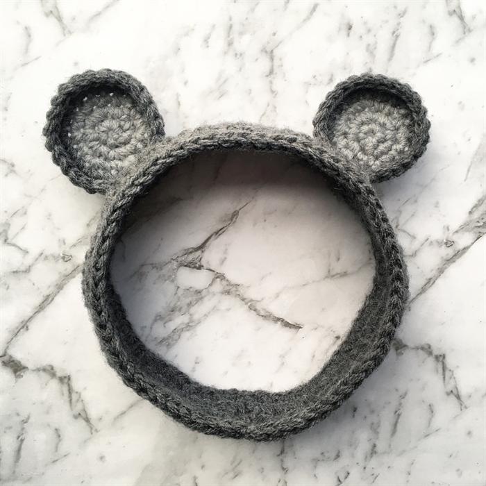 Crochet Mouse Ears Headband Child Many Colours Available Nanna