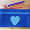 Upcycled Denim Pencil Case - Heart