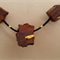 Jarrah Beads with Gold Leaf Applications Necklace