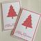 Bulk 4 Christmas Cards - Christmas tree (free postage)