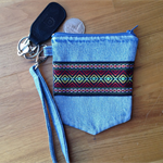 Upcycled Denim Wristlet Purse