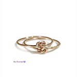 Gold double love knot ring