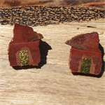 Jarrah Earrings with Gold Leaf Applications