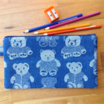 Denim Pencil Case - Teddies