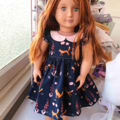 Fox Dress - fits Baby Born and 18 inch dolls - Ally Doll