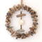Driftwood wreath with rope detail  wall hanging