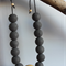 Textured grey beaded necklace
