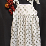 Sizes 4, 5 and 6 - Silver Spots Christmas Dress