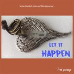 LET IT HAPPEN - angel wing adjustable necklace
