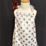 Sizes 3 and 4 - Xmas Silver Spots Dress