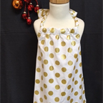Size 3 and 4 - Xmas Gold Spots Dress