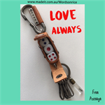 LOVE ALWAYS - keyring or bagcharm 