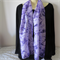 Hand Painted - Silk Scarf - Purple
