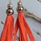 Yellow cotton tassel earrings