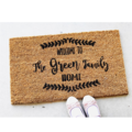 Door Mat, Custom made personalised family name housewarming coir