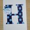 Personalised Happy Birthday card - monogram - boys or girls