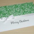 Beautiful Merry Christmas card - green