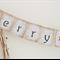 Boho Merry Christmas Hessian Burlap Bunting Banner Vintage Rustic Red Star