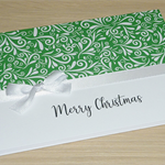 Beautiful Merry Christmas card - green