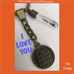 I LOVE YOU - what's for you will not pass you - keyring or bagcharm