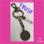 TRUST - what's for you will not pass you - keyring or bagcharm
