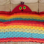 Hooded Rainbow Blanket inspired by Hungry Caterpillar & Beautiful Butterfly