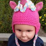 Unicorn hat, beanie. Pink, blue, purple, white unicorns. Little Pony, Brony.