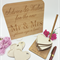 Personalised Wedding Sign and Hearts for Guests to Sign