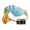 Scarf Camera Strap – Summer Blossom, silk scarf, camera accessories, DSLR